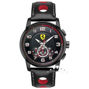 Ρολόι Ferrari με χρονόμετρο και δερμάτινο λουρί
