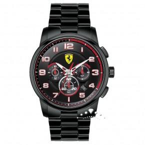 Ρολόι Ferrari με μπρασελέ μαύρο