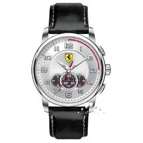 Ρολόι Ferrari με δερμάτινο λουρί και χρονόμετρο