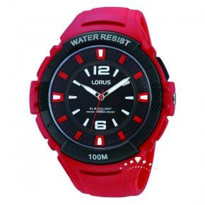 Ρολόι Lorus κόκκινο με φως