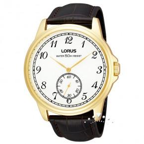 Ρολόι Lorus επίχρυσο με δερμάτινο λουρί