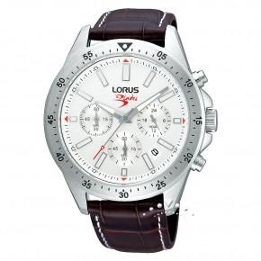 Ρολόι Lorus χρονόμετρο με καφέ λουρί