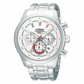 Ρολόι Lorus λευκό με μπρασελέ και χρονόμετρο
