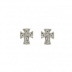 Σκουλαρίκια σταυροί με πέτρες