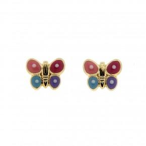 Σκουλαρίκι χρωματιστές πεταλούδες