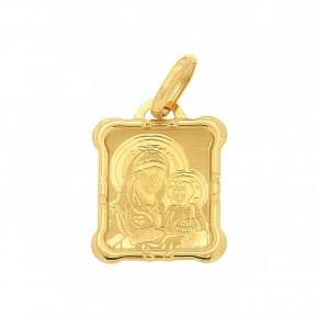 Κρεμαστό Παναγία χρυσό καμπυλωτό