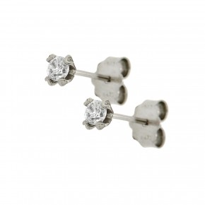 Σκουλαρίκια zirgon μονόπετρα