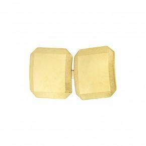 Χρυσά μανικετόκουμπα τετράγωνα