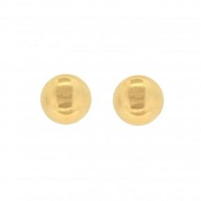 Σκουλαρίκια χρυσές μπίλιες