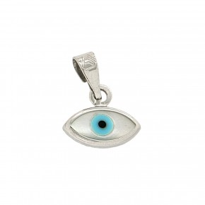 Μενταγιόν μάτι λευκόχρυσο κ375