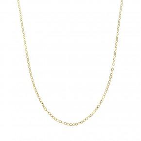 Αλυσίδα ρόμβοι χρυσή (45cm)