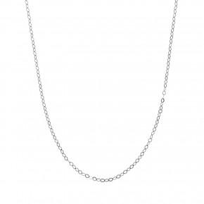 Αλυσίδα ρόμβοι λευκόχρυση (45cm)