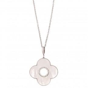 Κολιέ cross mother of pearl
