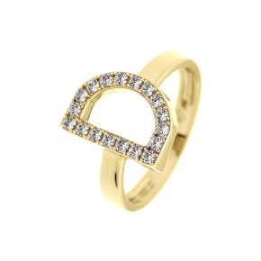 Δαχτυλίδι χρυσό monogram
