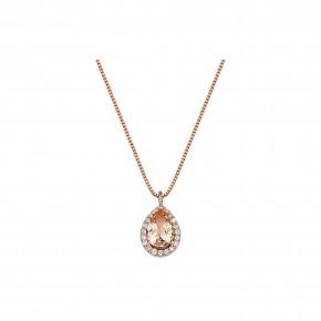 Κρεμαστό ροζέτα morganite και διαμάντια