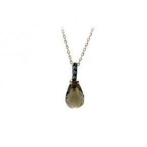 Κρεμαστό μονόπετρο με λαδί quartz