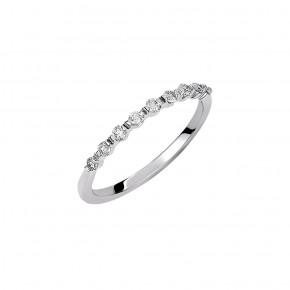 Δαχτυλίδι σειρέ με εννιά διαμάντια