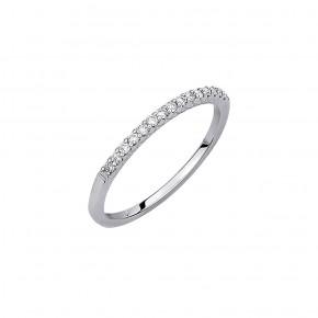 Δαχτυλίδι σειρέ flat diamonds
