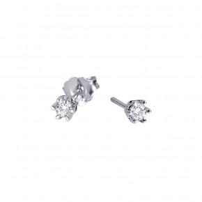 Σκουλαρίκια diamond μονόπετρα 0.20ct