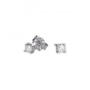 Σκουλαρίκια diamond μονόπετρα 0.12ct