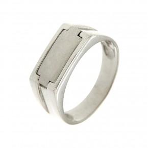 Ανδρικό δαχτυλίδι λευκόχρυσο 14 καρατίων