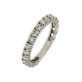 Δαχτυλίδι ολόβερο λευκόχρυσο 14 καρατίων