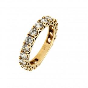 Δαχτυλίδι ολόβερο χρυσό 14 καρατίων