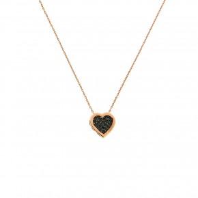 Κολιέ rosegold καρδιά