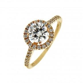 Δαχτυλίδι ροζέτα από χρυσό 14 καρατίων