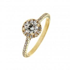Δαχτυλίδι ροζέτα χρυσή 14 καρατίων