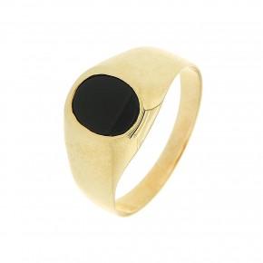 Δαχτυλίδι ανδρικό χρυσό 14 καρατίων με όνυχα