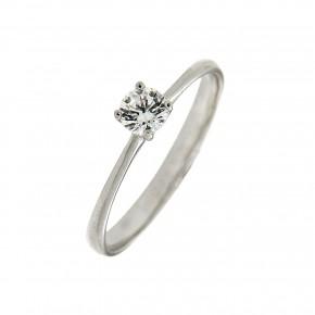 Μονόπετρο δαχτυλίδι minimal λευκόχρυσο 14 καρατίων (κ585)
