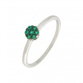 Δαχτυλίδι  πράσινη ροζέτα Piccolo