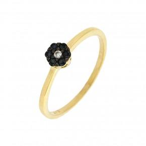 Δαχτυλίδι ροζέτα Piccolo μαύρο