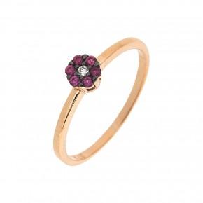 Δαχτυλίδι ροζέτα Piccolo κόκκινη