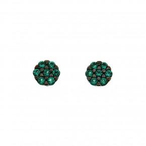 Piccolo σκουλαρίκια ροζέτες πράσινες