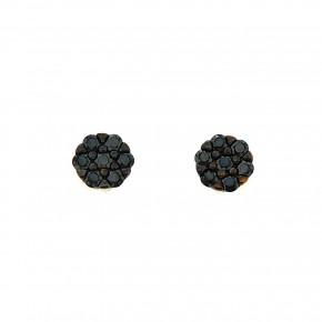 Piccolo σκουλαρίκια ροζέτες μαύρες
