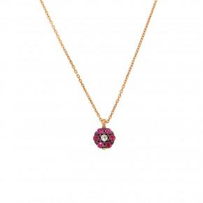 Piccolo κολιέ ροζέτα rosegold
