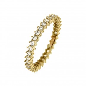 Δαχτυλίδι ολόβερο gold μονόσειρο