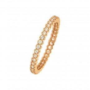 Δαχτυλίδι ολόβερο rosegold μονόσειρο