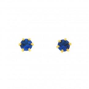 Σκουλαρίκια μονόπετρα μπλε