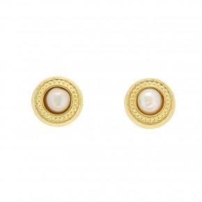 Σκουλαρίκια χρυσά μαργαριταρένια