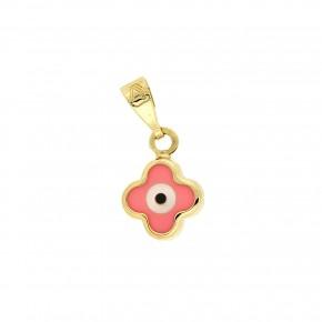 Κρεμαστός σταυρός με μάτι ροζ