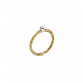 Δαχτυλίδι μονόπετρο diamond gold
