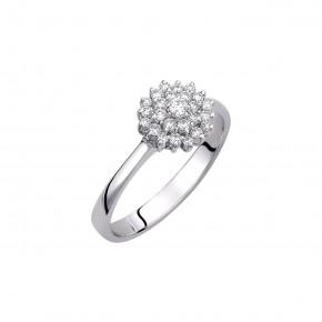 Δαχτυλίδι διαμαντένιο λουλούδι