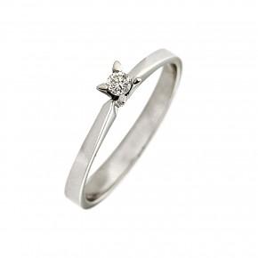 Δαχτυλίδι μονόπετρο diamond slim
