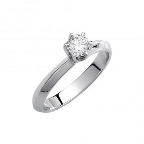 Δαχτυλίδι μονόπετρο diamond με έξι δόντια