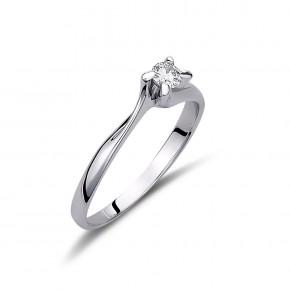 Δαχτυλίδι μονόπετρο diamond flame