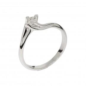 Δαχτυλίδι μονόπετρο flame diamond