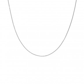 Αλυσίδα Forzetina σε λευκόχρυσο 40 εκατοστών, 18 καρατίων (κ750)